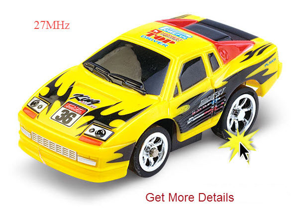 Yellow Tiny RC Car Picture